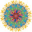 Mandala Fleur Couleurs Arc en Ciel
