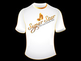 abstract super star t shirt
