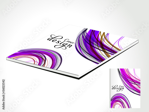 abstract magazine cover with wave