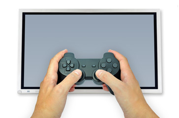 Holding video game controller