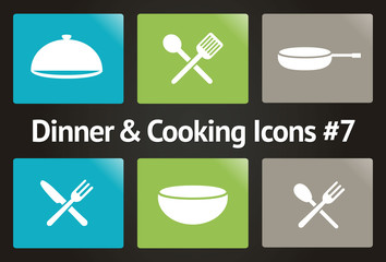 Dinner & Cooking Vector Icon Set #7