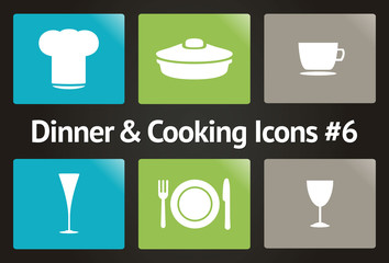 Dinner & Cooking Vector Icon Set #6