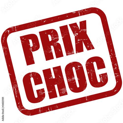 Grunge Stempel rot PRIX CHOC