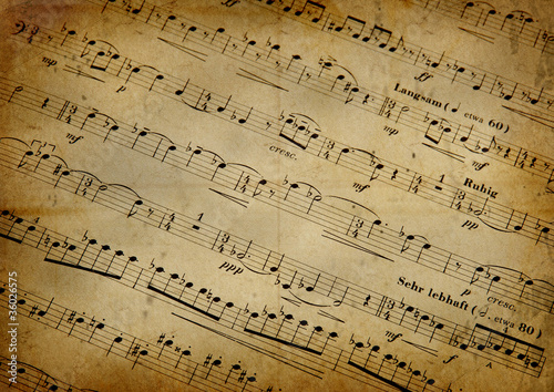 Musical score with texture grunge - 36026575