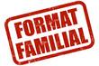 Grunge Stempel rot FORMAT FAMILIAL
