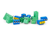 Different electrical connector blocks