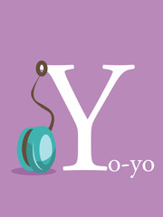Colorful abc, letter Y, vector illustration