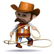3d Sheriff shows off his lasso skills....