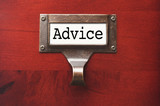 Lustrous Wooden Cabinet with Advice File Label poster