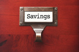 Lustrous Wooden Cabinet with Savings File Label poster