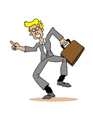 Happy Businessman! Vector / Clip Art