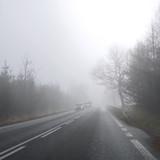Fototapety Road, cars and fog