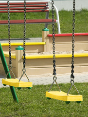 swings on the playground