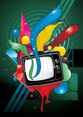 tv color vector illustration © chispas
