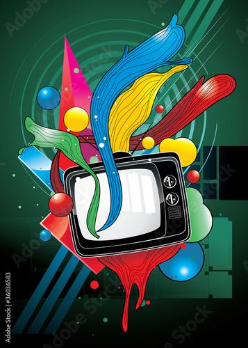 tv color vector illustration