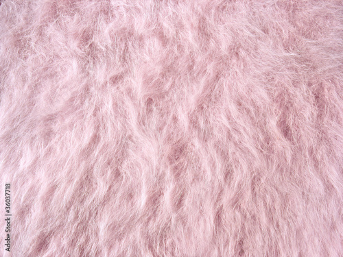 Texture of soft pink fleecy fabric (angora woolen cloth)