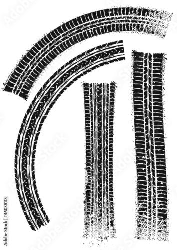 traces de pneu