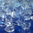 blue illuminated ice cubes