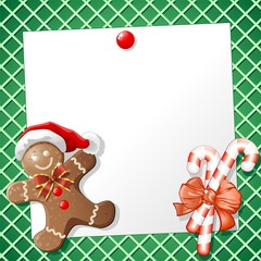 Biscotto Natale Auguri-Gingerbread Man Cookie Background-2
