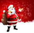Santa red background