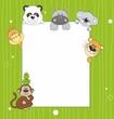 Tarjeta animales. Espacio en blanco