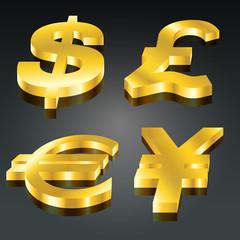 Golden Currency Set