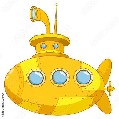 желтая подводная лодка нарисовать