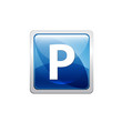 Botón azul parking