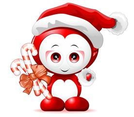 Babbo Natale Pupazzo-Santa Claus Cartoon Character-Vector