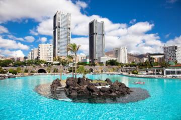 Maritimo Cesar Manrique park in Santa Cruz. Tenerife