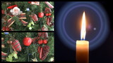 Christmas tree candle montage