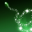 Silbernes Feuerwerk auf grünem Hintergrund