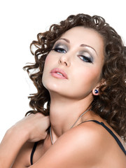 Beautiful glamour woman with fashion makeup