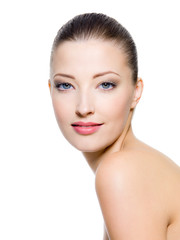 Beautiful woman with fresh clean skin