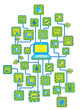 Internet Universal Networking link Green Ecology concept vector