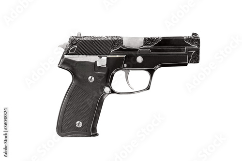 engraving gun isolated on white