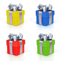color gift boxes collection
