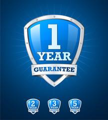 Blue vector guarantee shield collection