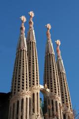 Sagrada Familia, cathedral designed by Gaudi, Barcelona, Spain