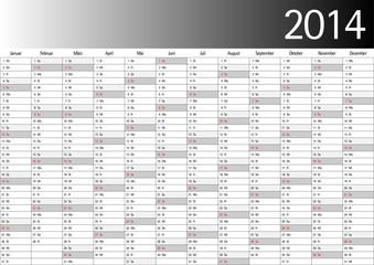 2014 Jahresplaner, Wandkalender