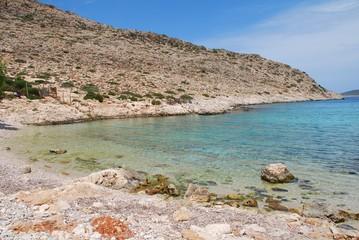 Kania beach, Halki island, Greece