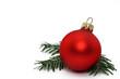 Leinwanddruck Bild - weihnachtskugel