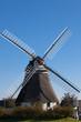 Leinwanddruck Bild - Historische Wrixumer Windmühle auf Föhr