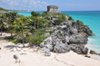 Leinwanddruck Bild - Tulum Mayan Ruins in Mexico