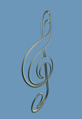 Isolated metal clef