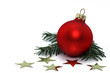 sterne mit weihnachtskugel