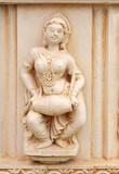 A lady drummer, replica of the sculpture of Sun temple Konark poster