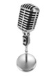 vintage microphone isolated on white background