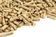 Wood pellets.