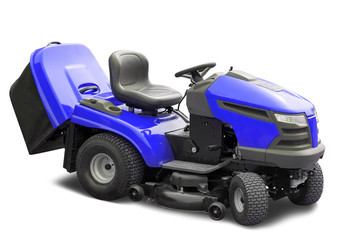 Blue lawnmower